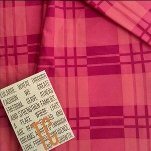 LuLaRoe Pants - Lularoe Pink Plaid Leggings TC ( fits L-XL) NWOT